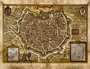 Risguardi cartina Milano bastioni - piccola