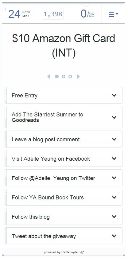 adelle yeung - giveaway rafflecopter
